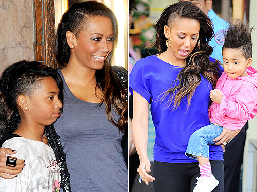 Hair Trend Alert! Melanie Brown and Her Girls Sport ...