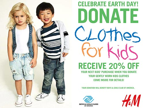 Donate Kids Clothing To H M For Earth Day Moms Babies