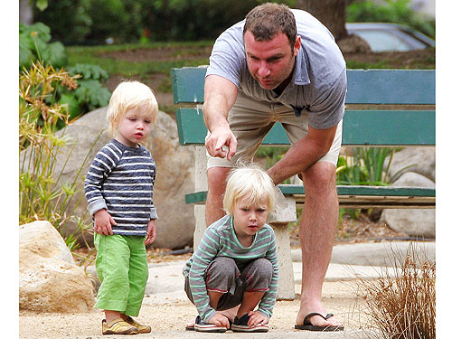 Spotted: Liev Schreiber and Sons Get Down with the Ducks ...