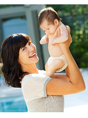 Catherine Bell Introduces Son Ronan