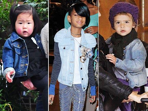 1 Trend, 3 Ways: Stylish Denim Jackets – Moms & Babies – Celebrity ...