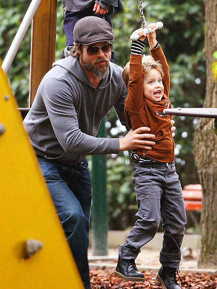 HANG TIME photo | Brad Pitt, Shiloh Jolie-Pitt