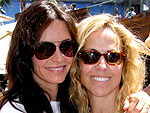 Courteney & Sheryl Catch Up Back in Cali | Courteney Cox, Sheryl Crow