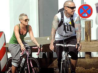 Couples Watch: Pink & Carey Hart Bike Through Berlin