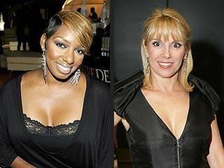 Housewives Nene Leakes & Ramona Singer Gossip over White Wine   NeNe Leakes, Ramona Singer