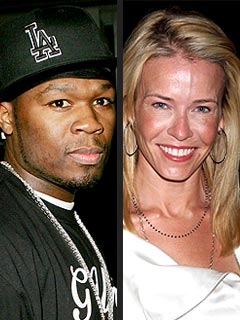 Couples Watch: 50 Cent & Chelsea Handler Party with Her Pals