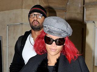 Rihanna Grabs an Umbrella (Ella, Ella?) after Shopping in Rainy Paris | Matt Kemp, Rihanna