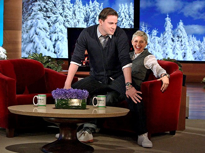 photo | Channing Tatum, Ellen DeGeneres