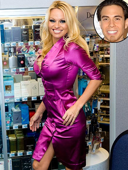  photo | Apolo Anton Ohno, Pamela Anderson