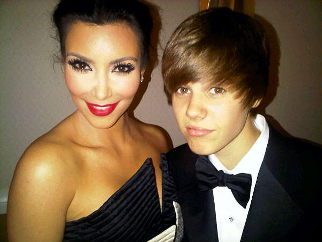 photo | Justin Bieber, Kim Kardashian