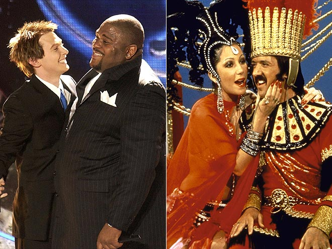 photo | Cher, Clay Aiken, Ruben Studdard, Sonny Bono
