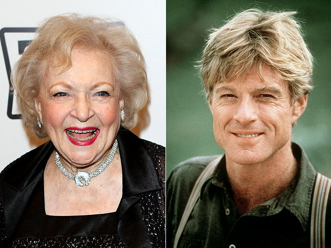  photo | Betty White, Robert Redford