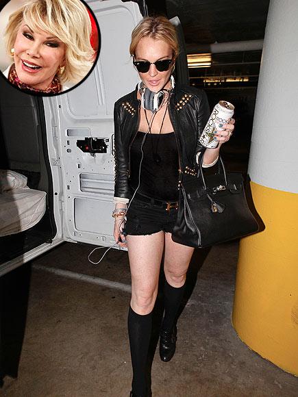 photo | Joan Rivers, Lindsay Lohan