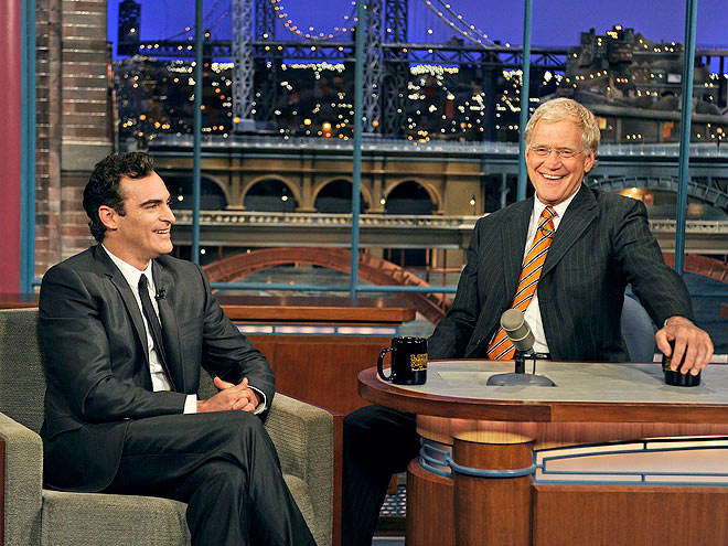 photo | David Letterman, Joaquin Phoenix