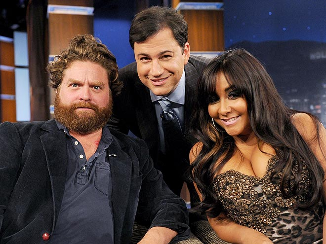 photo | Jimmy Kimmel, Nicole Polizzi, Zach Galifianakis