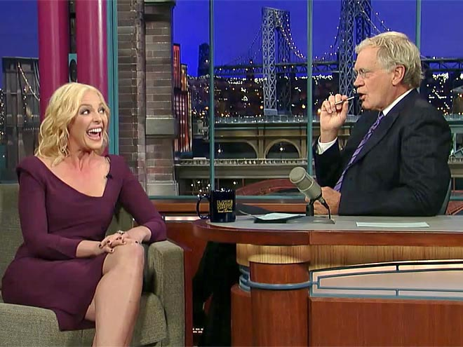  photo | David Letterman, Katherine Heigl
