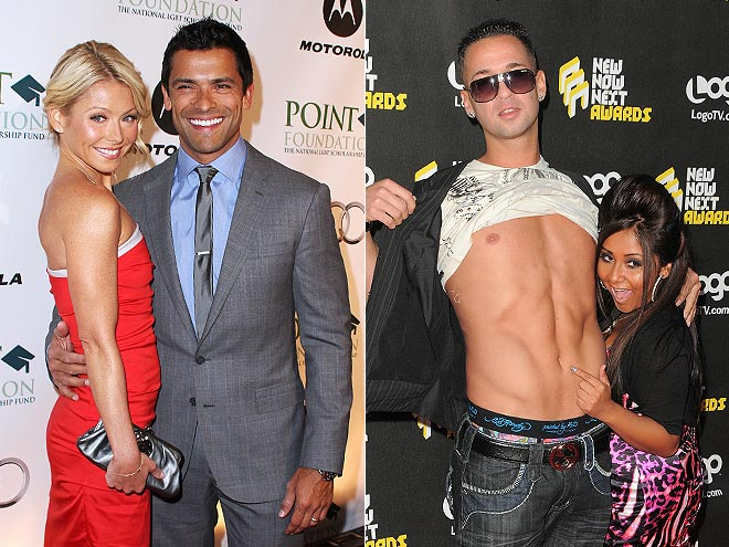photo | Kelly Ripa, Mark Consuelos, Mike Sorrentino, Nicole Polizzi