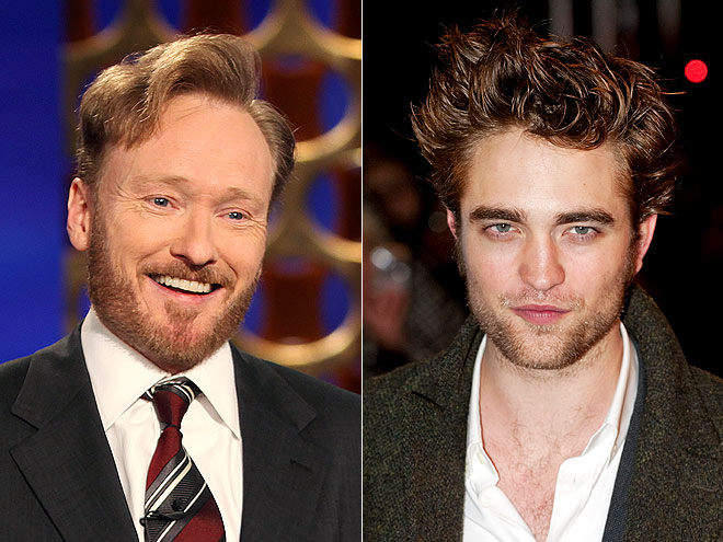 photo | Conan O'Brien, Robert Pattinson