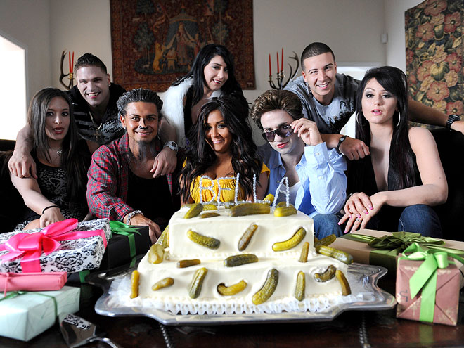 THE JERSEY SHORE CAST photo | Angelina Pivarnick, Mike Sorrentino, Nicole Polizzi, Pauly DelVecchio, Ronnie Magro, Sammi Giancola, Vinny Guadagnino
