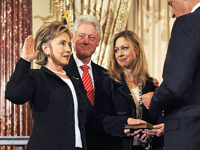 PARTY OF THREE photo | Bill Clinton, Chelsea Clinton, Hillary Rodham Clinton