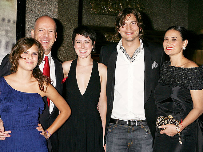 FAMILY TIES photo | Ashton Kutcher, Demi Moore