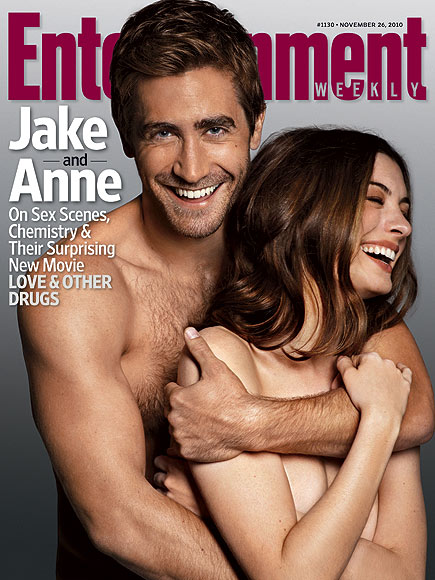Special Jake Gyllenhaal & Anne Hathaway's Naked Cover Shoot for EW