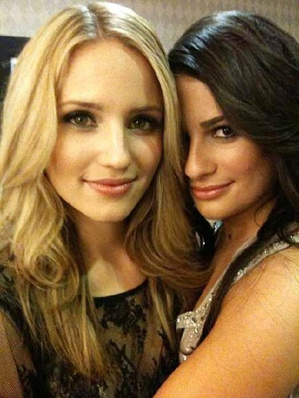 FRIENDLY FACES photo | Dianna Agron, Lea Michele