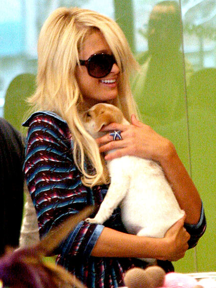 CUDDLING HER PUP