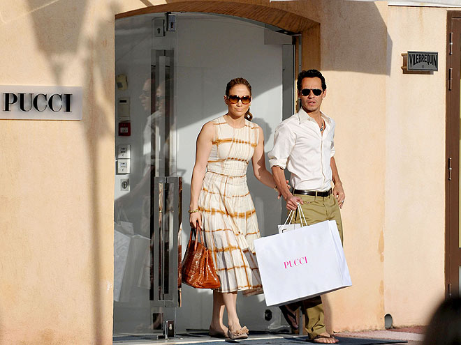 SHOPPING IN SAINT-TROPEZ photo | Jennifer Lopez, Marc Anthony