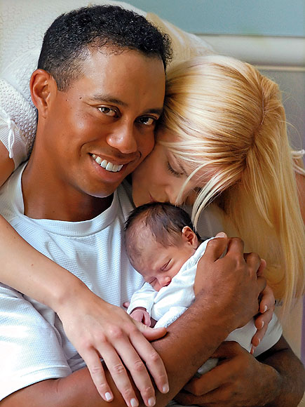 THE FIRST BABY photo | Elin Nordegren, Tiger Woods