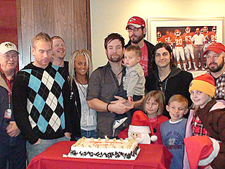 David Cook's Birthday Gift? An Ice Cream Cake!