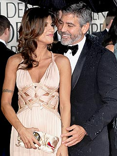 The Most Romantic Couples at the Globes | Elisabetta Canalis, George Clooney