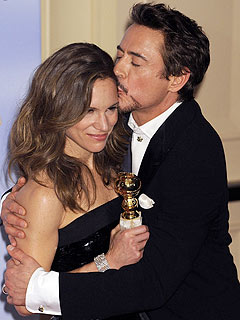 Robert Downey Jr.'s Wife Impressed by His Off-the-Cuff Globes Speech
