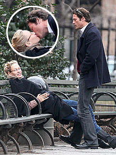 Uma Thurman in Lip-Lock with Her Ex-Fianc&#233; | Uma Thurman