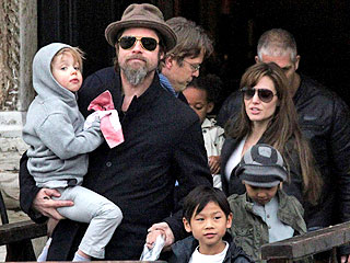 The Jolie-Pitts Take a Boat Trip in Venice
