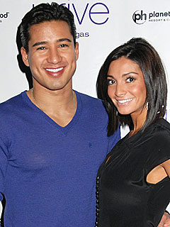 Mario Lopez and Courtney Laine