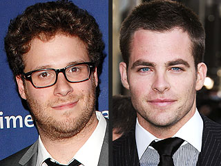 Seth Rogen Doesn&#39;t Regret Kissing, Getting Punched by Chris Pine