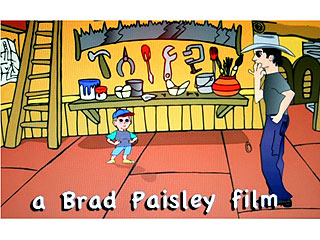 FIRST LOOK: Brad Paisley Creates Cartoon Version of Himself, Son Huck