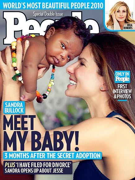05 10 10 cover Sandra Bullock Sons Adoption Secret