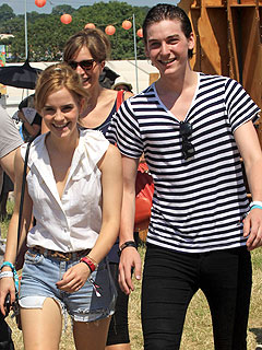 Emma Watson and New Musician Boyfriend Hit Glastonbury Festival