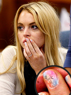 PHOTO: Lindsay Lohan's Profane Nail-Polish Message