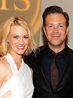 Jason Sudeikis Says He's 'Very Happy' Dating January Jones | January Jones, Jason Sudeikis