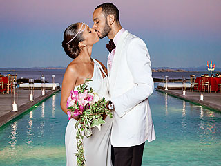 FIRST PHOTO: Alicia Keys and Swizz Beatz Seal Marriage with a Kiss