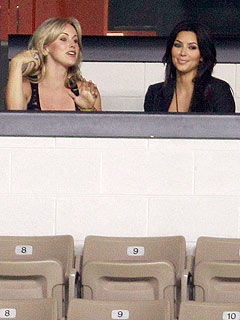Kim Kardashian and Candice Crawford Spice up Sidelines