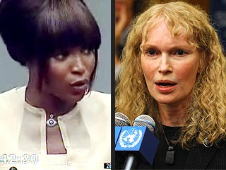 Mia Farrow Calls Naomi Campbell's Blood Diamonds Story a Lie | Mia Farrow, Naomi Campbell