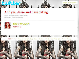 Kat Von D Tweets – Then Deletes – She's Dating Jesse James