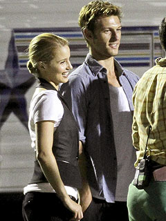 Dianna Agron's New Guy Alex Pettyfer Charms Her Glee Pals