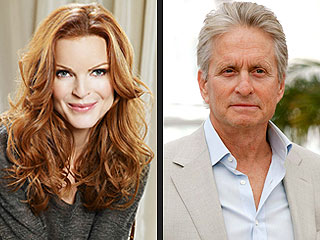 Marcia Cross Says Michael Douglas's Cancer Fight  Gives Her Hope