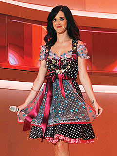 Katy Perry Indulges in Steak