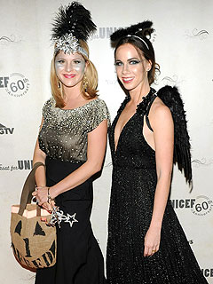 Bush Twins Trick-or-Treat as a Flapper and a Fallen Angel